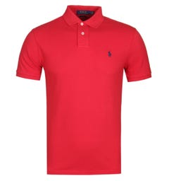Polo Ralph Lauren Slim Fit Lightweight Red Polo Shirt