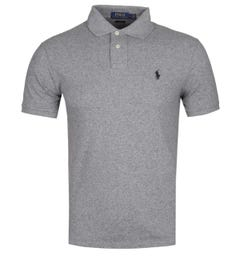 Polo Ralph Lauren Slim Fit Lightweight Mid Grey Polo Shirt