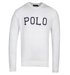 Polo Ralph Lauren Logo White Knit