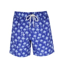 Polo Ralph Lauren Traveller Blue Palm Print Swim Shorts