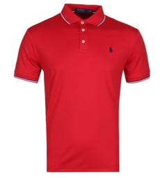Polo Ralph Lauren Custom Slim Fit Red Pima Polo Shirt