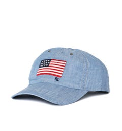 Polo Ralph Lauren Chambray Blue Flag Cap