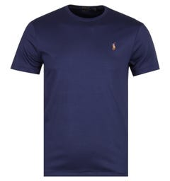Polo Ralph Lauren Custom Slim Fit Navy Pima T-Shirt