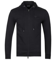 Emporio Armani Black Zip-Through Hoodie