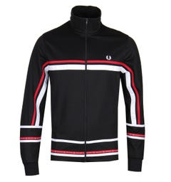 Fred Perry Micro Tape Black Sports Jacket
