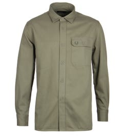 Fred Perry Olive Twill Utility Shirt
