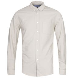 Portuguese Flannel Belvista Button-Down Long Sleeve Sand Shirt