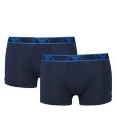 Emporio Armani 2 Pack Black Logo Trunks