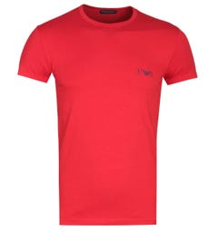 Emporio Armani Slim Fit Red Logo T-Shirt