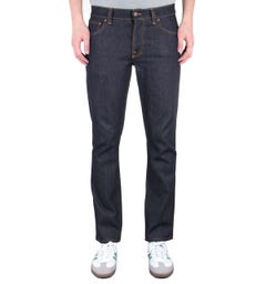 Nudie Jeans Co Grim Tim Slim Fit Dry True Navy Denim Jeans