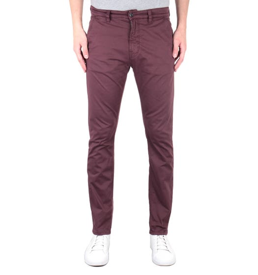 Nudie Jeans Co Slim Adam Red Chinos