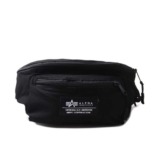 Alpha Industries Black Logo Waist Bag