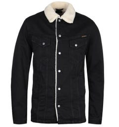 Nudie Jeans Co Lenny Black Shearling Jacket
