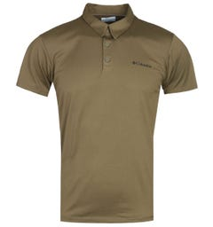 Columbia Triple Canyon Military Green Tech Polo Shirt