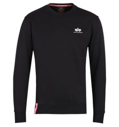 Alpha Industries Black Small Logo Sweatshirt