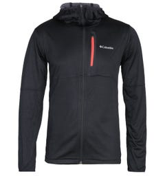 Columbia Tech Trial Lightweight Zip Through Black Hoodie