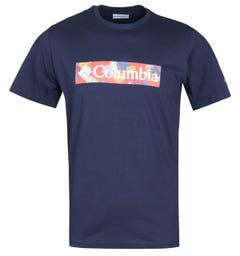 Columbia Rapid Ridge Graphic Navy Logo T-Shirt