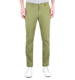 NN07 Marco 1400 Green Slim Fit Chinos