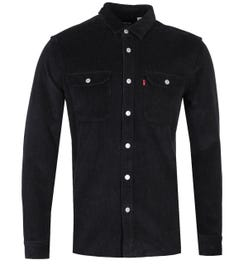 Levi's Jackson Black Cord Regular Fit Worker Shirt