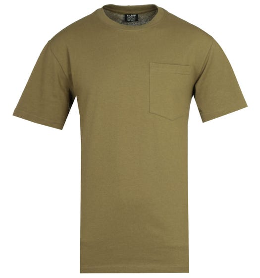 Filson Outfitter Short Sleeve Olive Drab Pocket T-Shirt