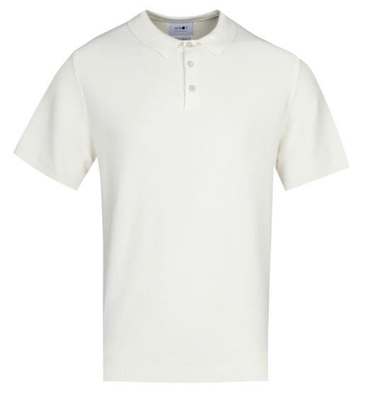 NN07 Alfie 6382 Relaxed Fit Off White Polo Shirt