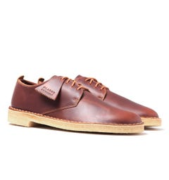 Clarks Originals Tan Desert London Leather Shoes