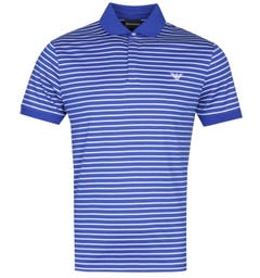 Emporio Armani Small Stripe Electric Blue Polo Shirt