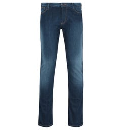 Emporio Armani J06 Slim Fit Indigo Mid Wash Denim Jeans