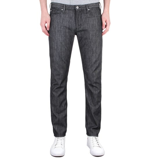 Emporio Armani J06 Slim Fit Washed Black Denim Jeans