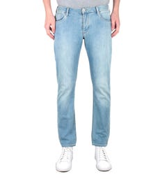 Emporio Armani J06 Slim Fit Light Blue Wash Denim Jeans