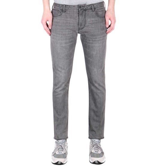 Emporio Armani J06 Slim Fit Mid Grey Denim Jeans