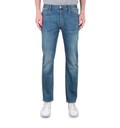 Emporio Armani J45 Regular Fit Mid Blue Wash Denim Jeans
