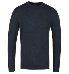 Emporio Armani Midnight Navy Knitted Sweater