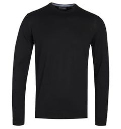 Emporio Armani Arm Patch Black Sweater