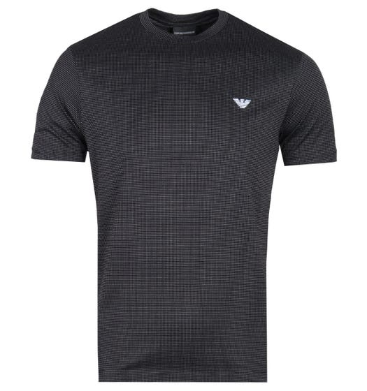 Emporio Armani Dot Pattern Black Logo T-Shirt