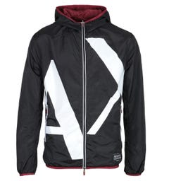 Armani Exchange AX Black & Maroon Big Logo Reversible Jacket