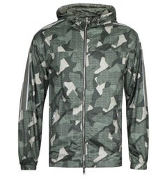 Armani Exchange Military Green Hooded Camo Jacket