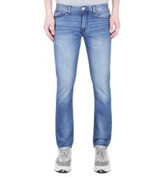 Armani Exchange J13 Slim Fit Washed Light Blue Denim Jeans
