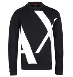 Armani Exchange AX Black Big Logo Sweatshirt