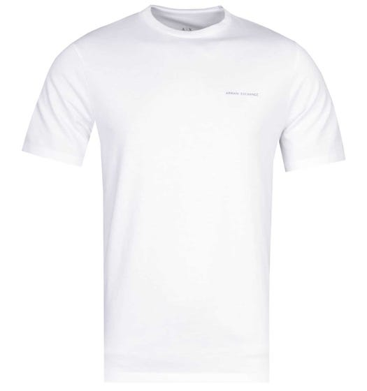 Armani Exchange Rear Stripe White Logo T-Shirt