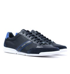 BOSS Saturn Lowp Navy Mesh Trainers