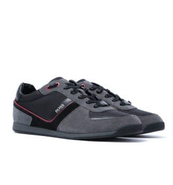 BOSS Maze Lowp Charcoal Grey Suede Trainers