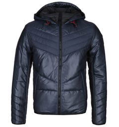 BOSS Opalm Rip Stop Padded Navy Jacket