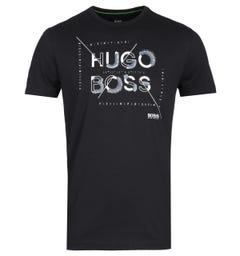 BOSS Tee 2 Large Logo Black T-Shirt