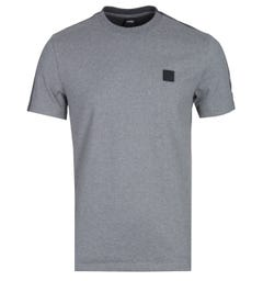 BOSS Tevidad Two-Tone Grey Marl Logo T-Shirt
