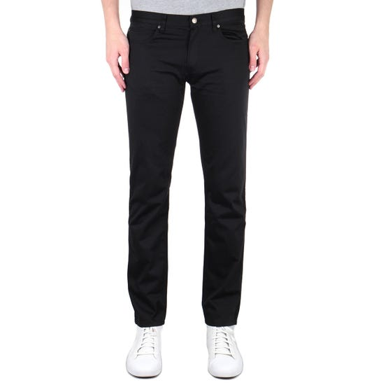 HUGO 708 Slim Fit Stretch Black Denim Jeans