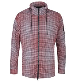 BOSS Landscape Red Checked Overshirt