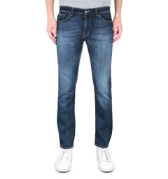BOSS Maine 3 Regular Fit Mid Wash Blue Denim Jeans