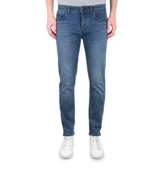BOSS Taber Super Stretch Tapered Fit Blue Wash Denim Jeans