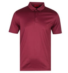 HUGO Dauter Short Sleeve Regular Fit Burgundy Polo Shirt